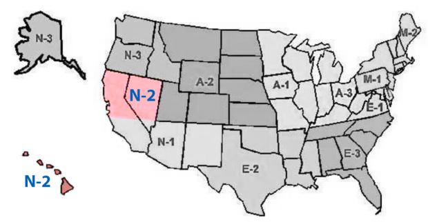 N-2 Region Map