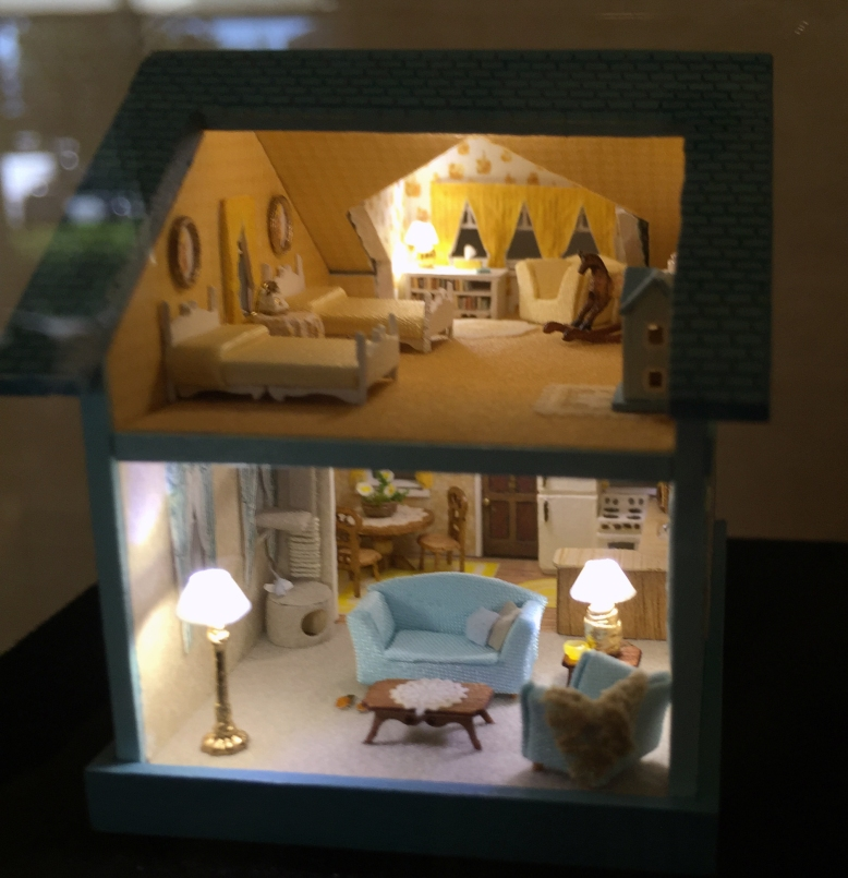Lucille Kreps's first 1:144 scale dollhouse