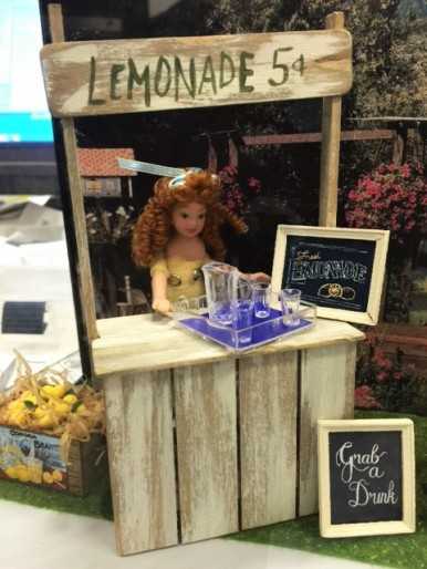 MiniCal's Jan 16 workshop: build a lemonade stand and dress a child vendor.
