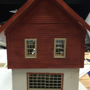 1/4 scale ski lodge workshop by the MiniCals.