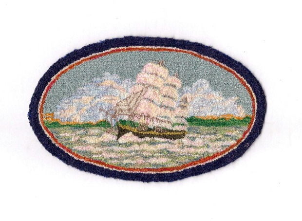 2016 Good Sam workshop: Russian Punchneedle Schooner Rug with Sallie Evans , Strawberry Creek Designs.