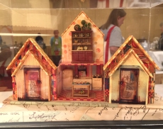 """The Accordion House"" altered miniature exhibited by Debby Basaraba at the NAME 2016 Convention."