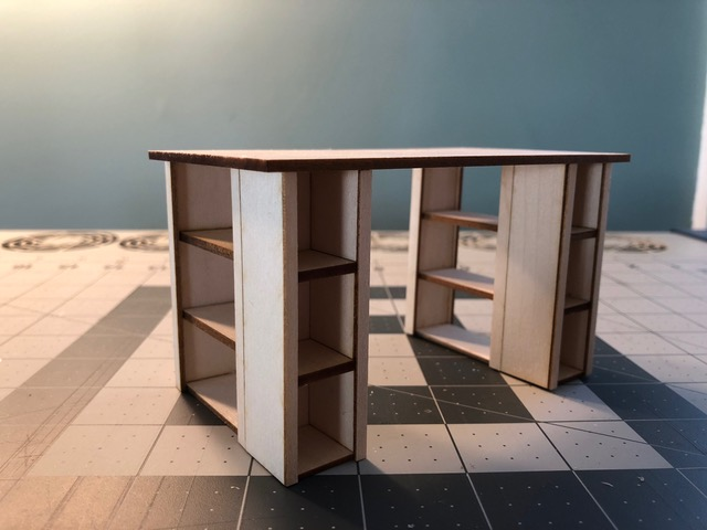 Half size crafting table