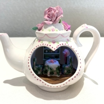 """Room in a Teapot"" by Paula Holm. This project was a workshop at the NAME Greenville convention."